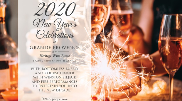 2020 New Years grande provence franschhoek restaurant